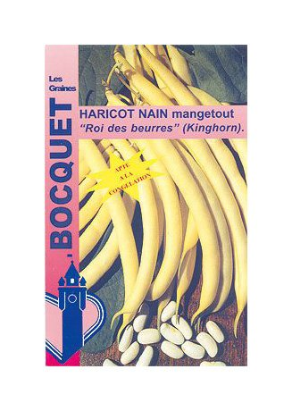 Les Graines Bocquet - Graines De Haricot Nain Beurre Roi Des Beurres 110G (Kinghorn) - Graines Potagères À Semer - Sachet De 110Grammes