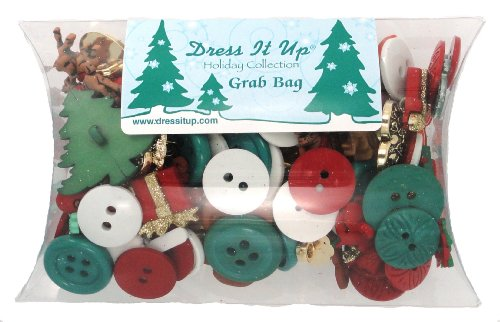 Jesse James Buttons (Jesse James Kleid IT UP Verschiedene Größen Mix von Tasten, rot/weiß/grün)