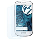Bruni Schutzfolie für Samsung Galaxy S3 Mini (GT-i8190) Folie - 2 x glasklare Displayschutzfolie