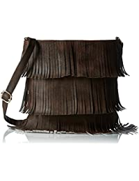 EDGEKART Stylish Shinning PU Leather Sling Bag For Women And Girls - Brown - B075CJG5YZ
