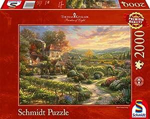 Schmidt Spiele 59629 Thomas Kinkade In den Weinbergen - Puzzle (2000 Piezas)