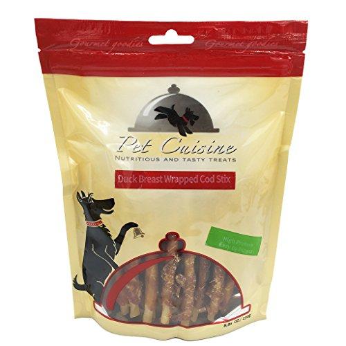 pet-cuisine-hundeleckerli-hundesnacks-welpen-kausnacks-entenbrust-kabeljau-kaustangen-250g