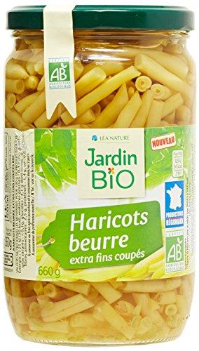 Jardin Bio Haricots Beurre Coupés 660 g - Lot de 3