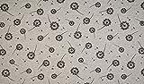 Qualitativ hochwertiger French Terry, Sweatshirtstoff mit schwarzen Pusteblumen auf Grau als Meterware mit Öko-Tex Zertifizierung zum kreativen Nähen von Erwachsenen, Kinder und Baby Kleidung, 50 cm