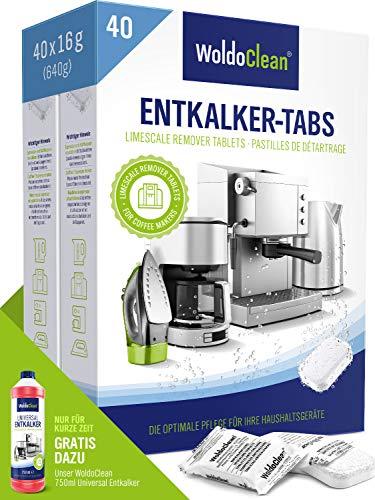 Entkalkungstabletten für Kaffeevollautomaten & Kaffeemaschine - 40x 16g Tabs kompatibel mit sämtlichen Herstellern