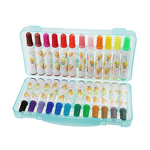 bao Core 12/24/36sortierte Watercolor Marker Umweltfreundlich Sicher Zeichnen Marker ideal für Kinder/Studenten Zeichnen Klasse/Büro Verwendung in Faltbare Box