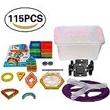 LEMAIKJ 1Set 115pcs (56pcs Blocs de Construction Magnétique), Jouet Créatif Educatif Pour Enfant