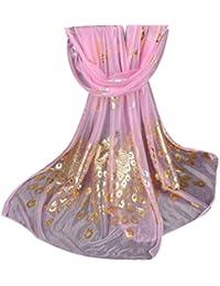 Echarpes et foulards Amlaiworld Mode Femmes Longue Paon Imprimé Mousseline  de soie Echarpe Mesdames châle Filles 36328753e80