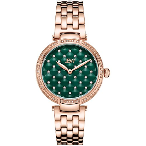 JBW Women's Gala Diamond 34mm Swiss Quartz Green Dial Analog Watch J6356B