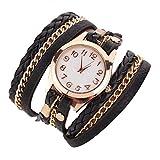 Hosaire Bracelet en Cuir Artificiel Tressé Bracelet Vintage Montre-Bracelet Femme...