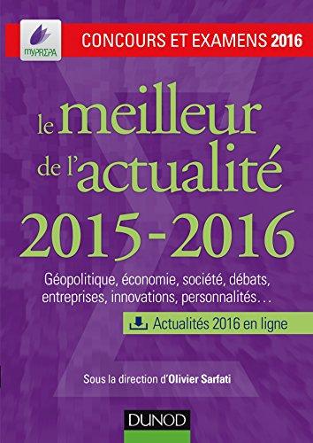 Le meilleur de l'actualit 2015-2016 - Concours et examens 2016
