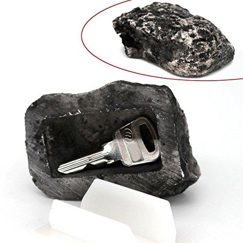MIONI Hide-a-Spare-Key gefälschte Rock - Looks & Feels wie echter Stein - Safe für Outdoor-Garten oder Hof, Geocaching