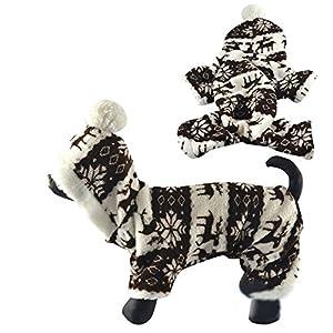 Nibesser Vetements Sweat-shirt en Conton a Capuche Costume Motif Flocons de neige pour Chien Chat Dr?le Animal de Compagnie Pour L'hiver