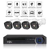 MYZZ Sistema di Telecamere CCTV per La Casa Wireless 1080P WiFi Videosorveglianza di Sicurezza Kit 4 Telecamere, Registratore 8CH NVR con Disco Rigido da 1Tb