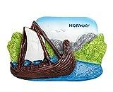 zamonji 3D Harz Kühlschrankmagnet. Welt Tourismus Souvenirs Home Dekoration - Norwegen (Viking Ship...