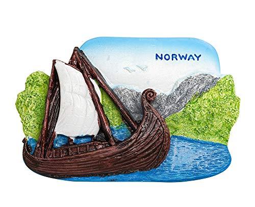 zamonji 3D Harz Kühlschrankmagnet. Welt Tourismus Souvenirs Home Dekoration - Norwegen (Viking Ship Museum)