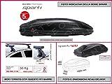 Kit Box SPARK 420 Lt 1928 X 550 X 492 compreso Barre Portatutto Portapacchi Toyota Yaris 5 Porte dal 2012 in avanti
