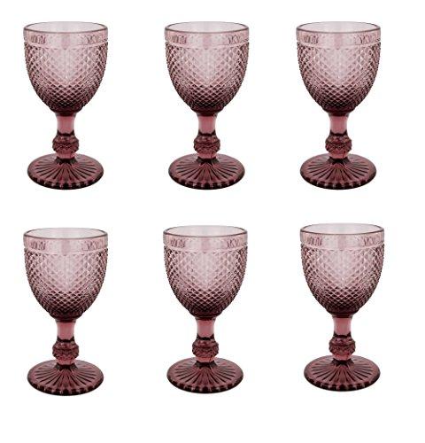 Vintage 6 Teile Set Glasnetz NEU Champagne Trinkglas Glas Gläser Weingläser Wasserglas...