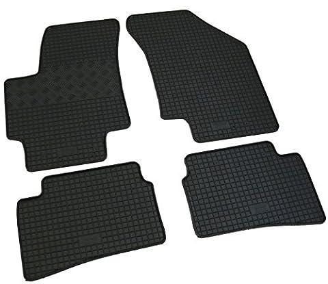 Gummi Fußmatten Set, 4teilig, Gummifußmatten Gummimatten Matten