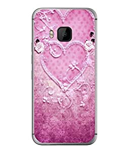 PrintVisa Designer Back Case Cover for HTC One M9 :: HTC One M9S :: HTC M9 (Heart Shaped Flowers Polka Dots )