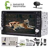 Eincar Camera + Android 6.0 Auto-Stereo 6.2 '' HD Touch-Screen-Auto-DVD-Player Doppel-DIN-Navigation-Steuergerät Radio Receiver Unterstützung Bluetooth 4.0 / WiFi / Lenkrad-Steuerung / 1080P / GPS (USA) und GLONASS (Russland)