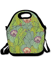 Cactus Fashion Cute Lunch Bag Lunch Backpack Casual Lunch Box Lunchboxes Lunch Pouch Durable Lunch Tote