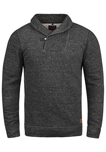 Blend Janosch Herren Sweatshirt Pullover Pulli Mit Schalkragen, Größe:M, Farbe:Black (70155) -