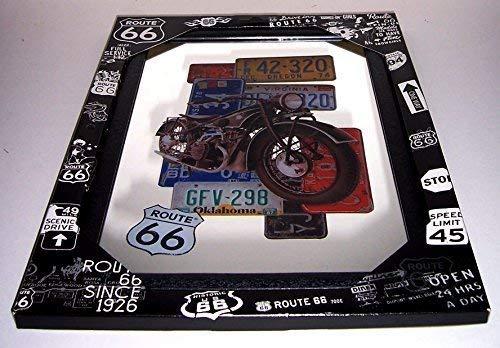 Route 66 Bike Motorcycle Street Signs Nostalgie Barspiegel Spiegel Bar Mirror 22 x 32 cm -