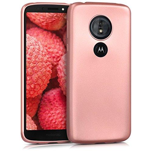 kwmobile Motorola Moto G6 Play Hülle - Handyhülle für Motorola Moto G6 Play - Handy Case in Metallic Rosegold
