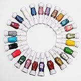 24X Vernis à Ongles Pinceau Stylo Liner Peinture 2 Facon Usage Manucure Nail Art couleur aléatoire