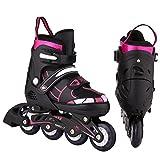aimage Inliner Kinder, LED Inline Skates Rollerblades für Mädchen und Jungen, Inlineskates für Anfänger, größenverstellbar 31-42 Rollerskates(DE-Lager)