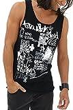 trueprodigy Casual Herren Marken Tank Top mit Aufdruck, Oberteil Cool und Stylisch mit Rundhals (Ärmellos & Slim Fit), Muscle Shirt für Männer in Bedruckt, Größe:L, Farben:Schwarz