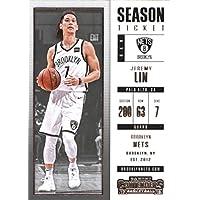 2017–18Dépasse Panini Season Ticket # 17Jeremy Lin Brooklyn Nets Basketball carte