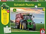 Schmidt Spiele 56043 - John Deere, 8370R, 60 Teile, Klassische Puzzle, Siku Traktor