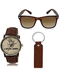 REMIXON Men Accessories Combo With Watch-Goggles And Key Chain For Men & Boys