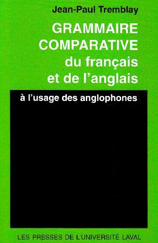 Grammaire comparative du français et de l'anglais