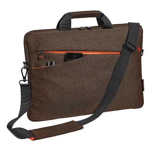 """PEDEA Notebooktasche """"Fashion"""" für 17,3 Zoll (43,9cm) mit Zubehörfach, Schultergurt, braun"""
