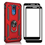 XIFAN Stand Case + [2 Pack] Screen Protector for LG K40,
