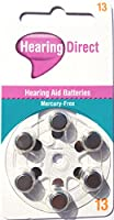 Hearing Aid Batteries Size 13 by Hearing Direct - Pack of 30