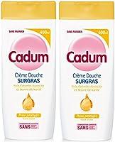 Cadum - Crème Douche Surgras Huile d'Amandes Douces Bio et Beurre de Karité - 400 ml - Lot de 2