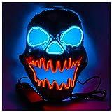 Feu Licorne Glow Masque Crocs Halloween Horreur Visage Fantôme Électrique Zombie Pirate Fantôme Tête Trou Visage,Red-OneSize
