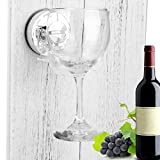 Fuibo Weinregale, Bad & Dusche Portable Suction Cupholder Caddy für Bier & Wein Sucker Cup Holder | Wein Glas Halter für Weingläser (Clear)