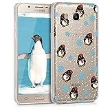kwmobile Samsung Galaxy J5 (2016) DUOS Hülle - Handyhülle für Samsung Galaxy J5 (2016) DUOS - Handy Case in Schwarz Hellblau Transparent