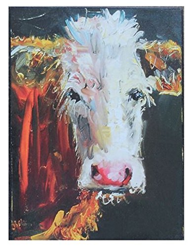 Creative Beeinflußt Stehend Doleful Kuh Rustikal Pinselstriche 5,75x 8Holz Wandschild Aufschrift