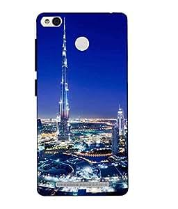 Snazzy Burj khalifa Printed Multicolor Hard Back Cover For Redmi 3S Prime