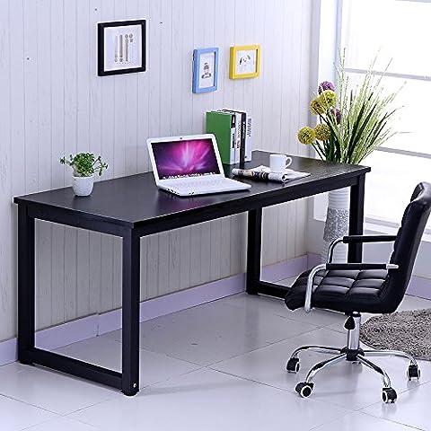 Anaelle Pandamoto Bureau Informatique Table de l'ordinateur sur Bureau, Maison, Fête etc, Taile: 120*60*74cm, Poids: 22kg (Noir)