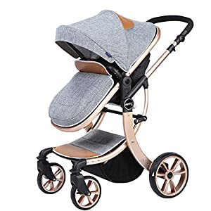 Lvbeis Newborn Pushchairs Baby Strollers Buggy Fold Prams UPPAbaby A pushchair/ travel system with all weather protection Can be upgraded to carry two or three children with additional accessories Large basket 5
