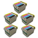 Generisches Kompatible Tintenpatrone als Ersatz für Epson T1291 T1292 T1293 T1294 (5x Schwarz, 5x Cyan, 5x Magenta, 5x Gelb, 20er-Pack)