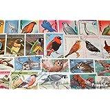 Motive 100 verschiedene Vögel Marken (Briefmarken für Sammler)