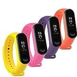 Fit-power Ersatz-Armband für Xiaomi Mi Band,Smart-Watch-Armband (nicht für MI Band 2/1S), 3 Stück, Miband3-Pack of 4C
